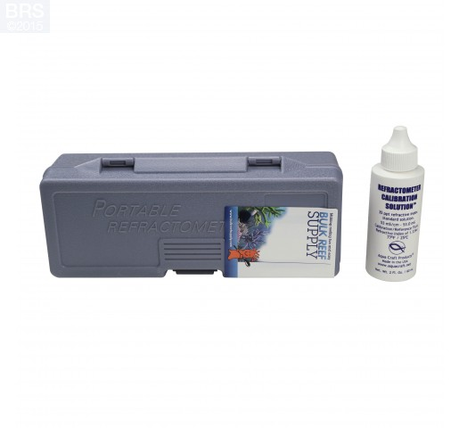 Refractometer for Reading Salinity with Calibration Fluid