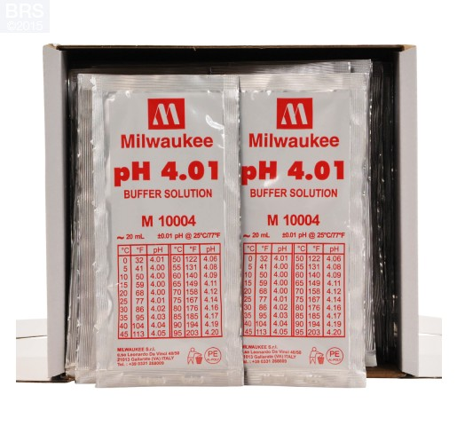 Milwaukee pH Calibration Fluid - Box of 25