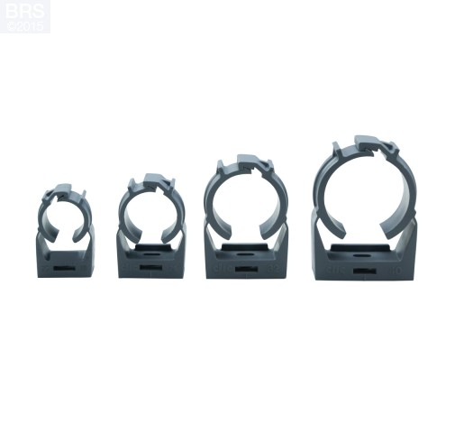 Surface Mounting Clamp for PVC Pipe Available in 8 Sizes