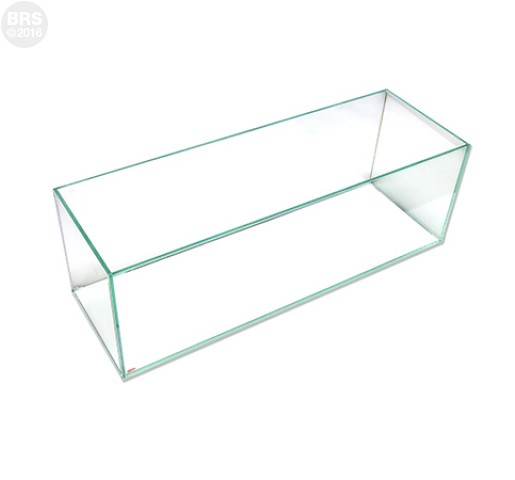 12 Gallon Bookshelf Rimless Tank - Low Iron Glass