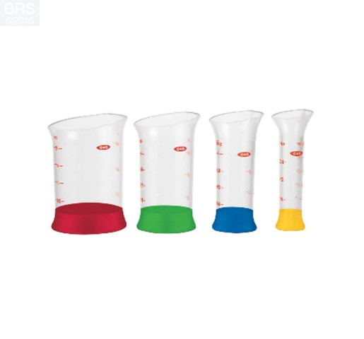 4-Piece Mini Measuring Beaker Set