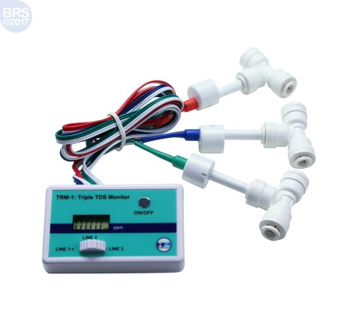 Triple Inline TDS Meter TRM-1 with Push Connect Fittings - HM Digital
