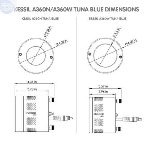 Kessil A360N-E Tuna Blue LED Aquarium Light