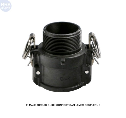 Male Thread Cam Lever Quick Connect Coupling
