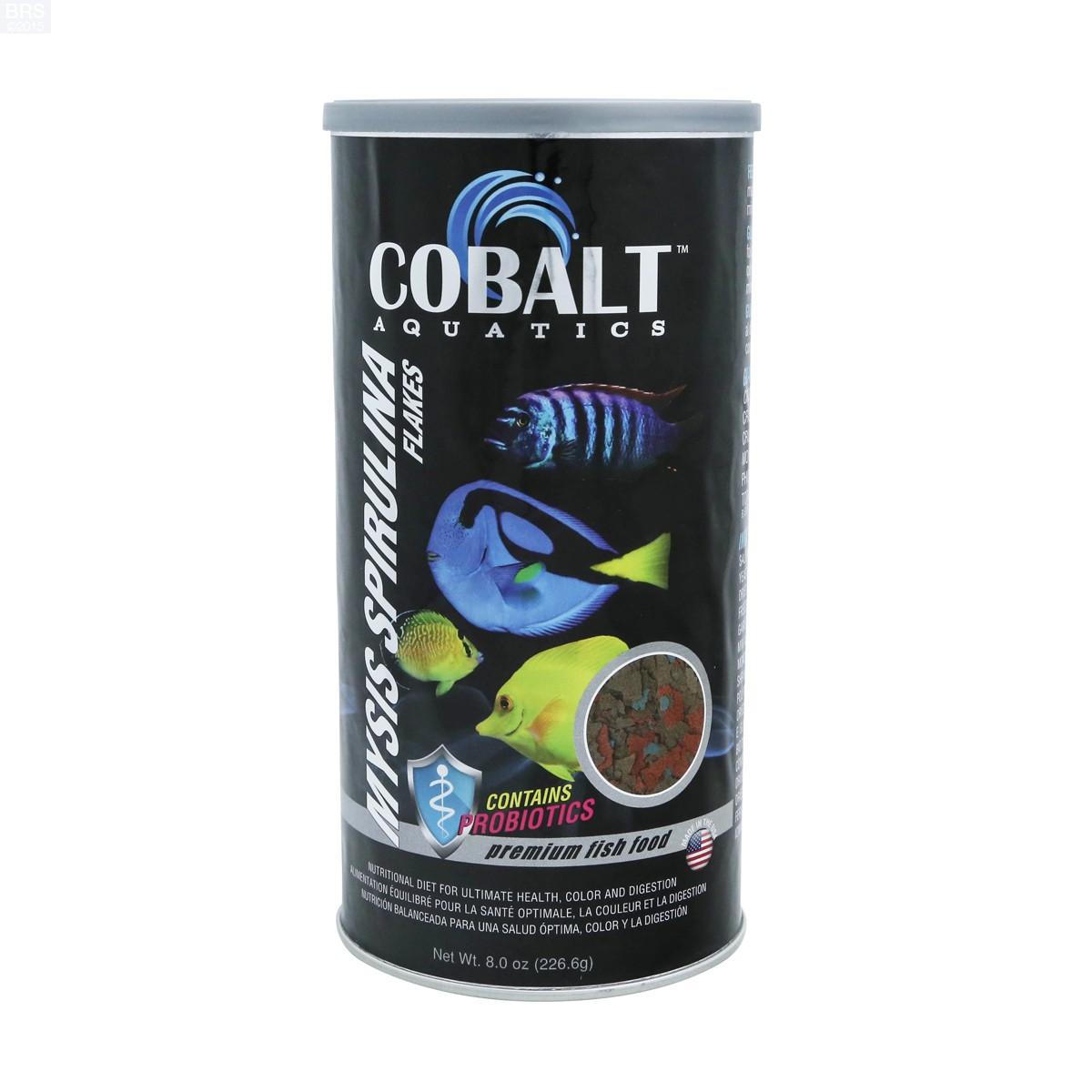 Cobalt aquatics mysis spirulina flakes fish food for Spirulina fish food