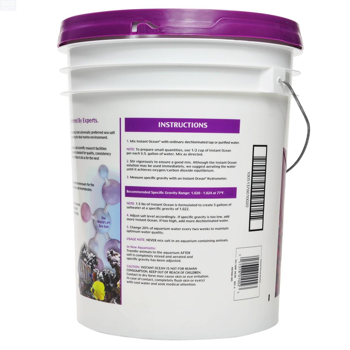 Instant Ocean Salt Mix : Sea salt mix instant ocean bulk reef supply