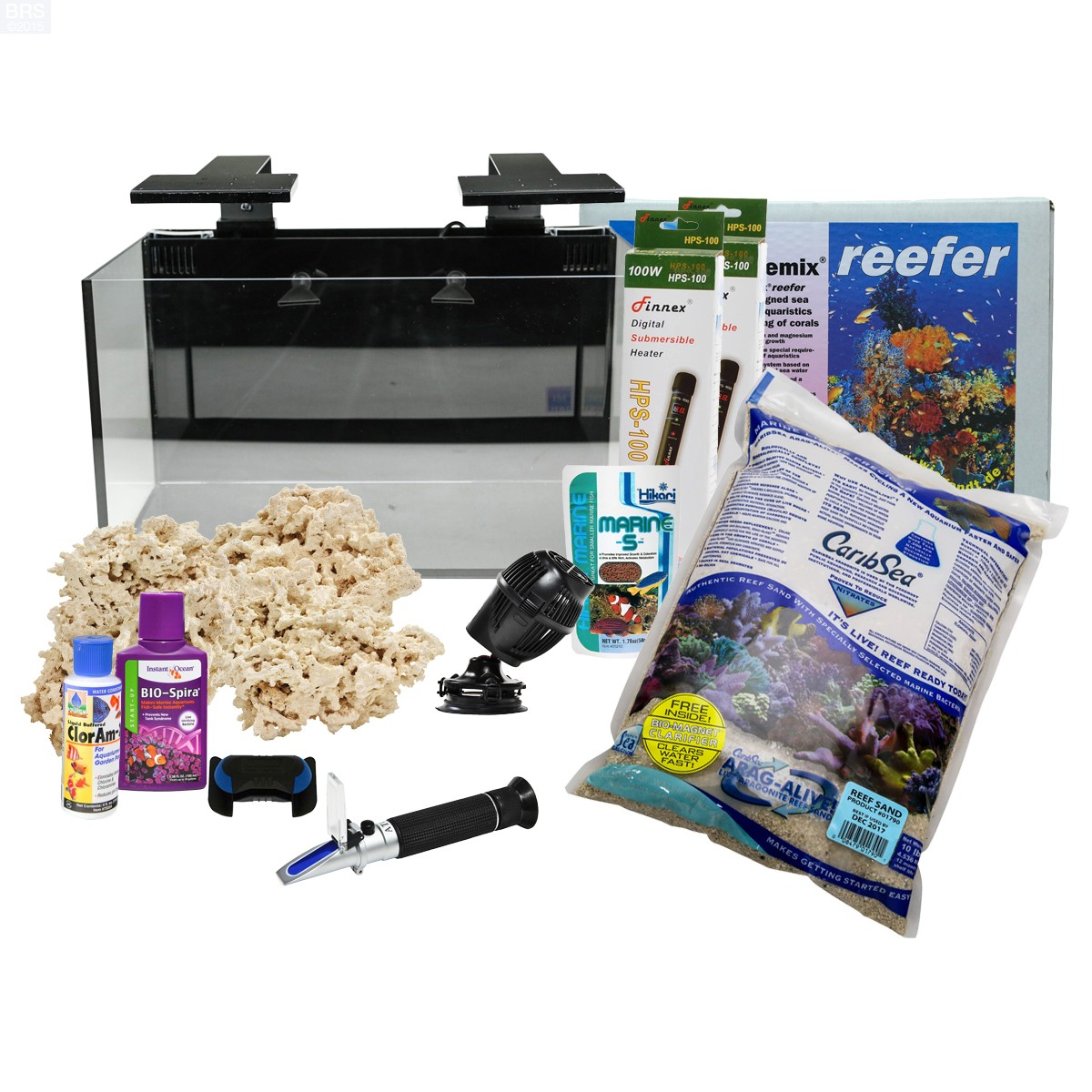 Nuvo fusion 20 gallon starter tank kit bulk reef supply for 20 gallon fish tank kit