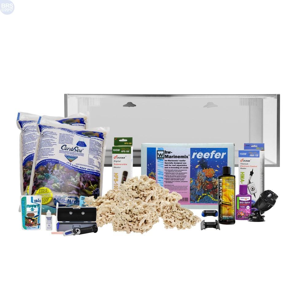 Nuvo fusion 30 gallon aquarium starter tank kit bulk for 50 gallon fish tank starter kit