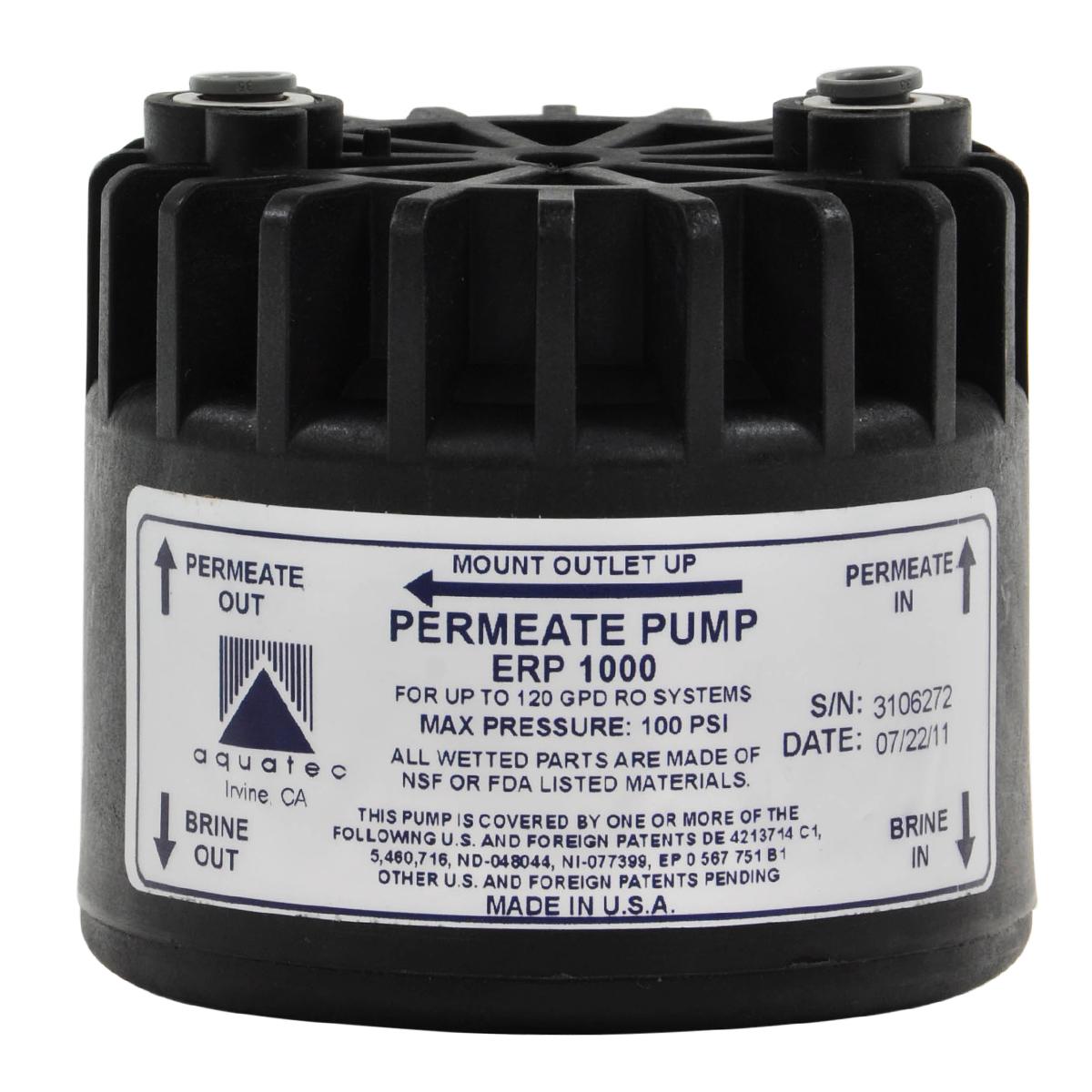 Aquatec Permeate Pump Erp 1000 Bulk Reef Supply