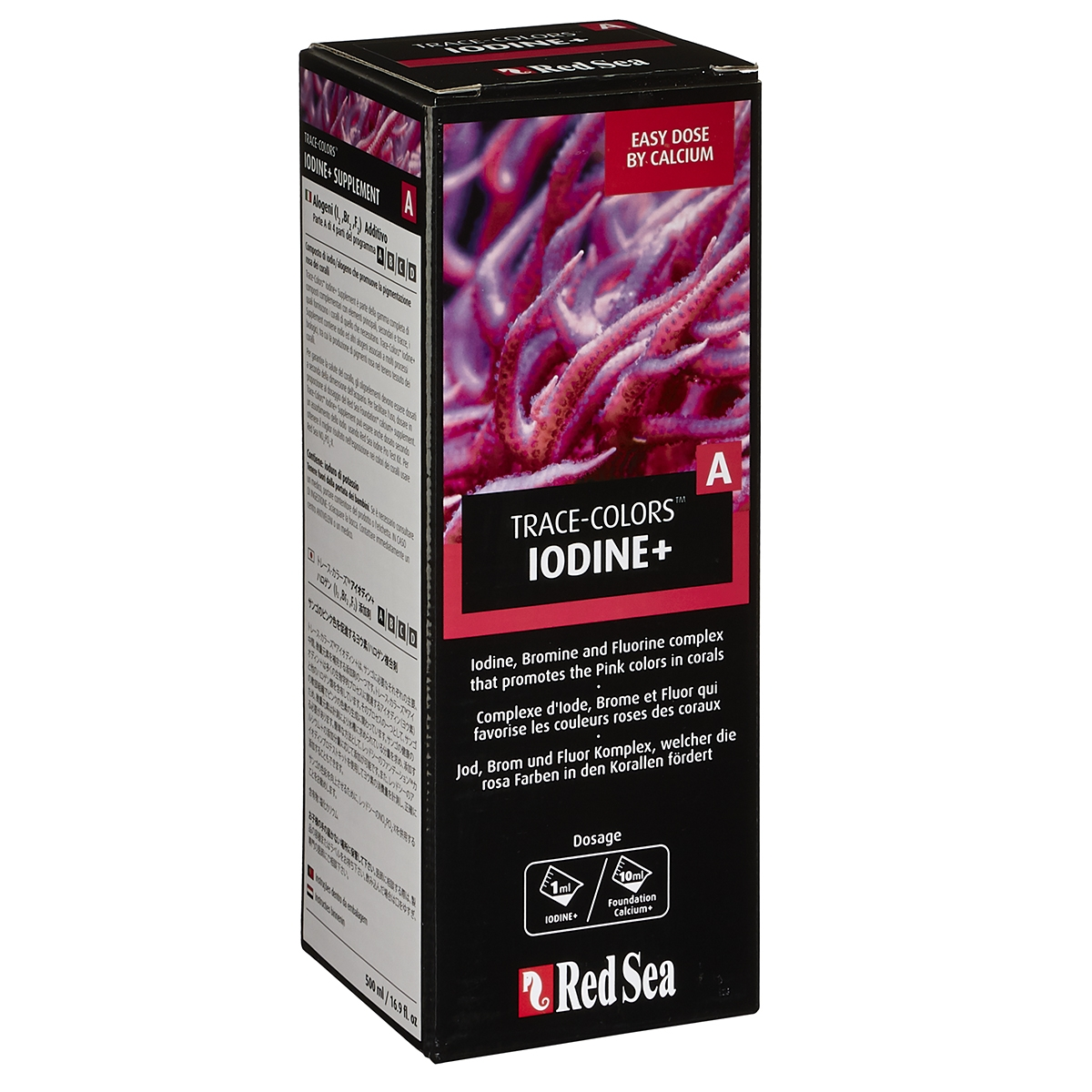 Red Sea Trace Colors A Iodine Halogens 500 Ml Bulk