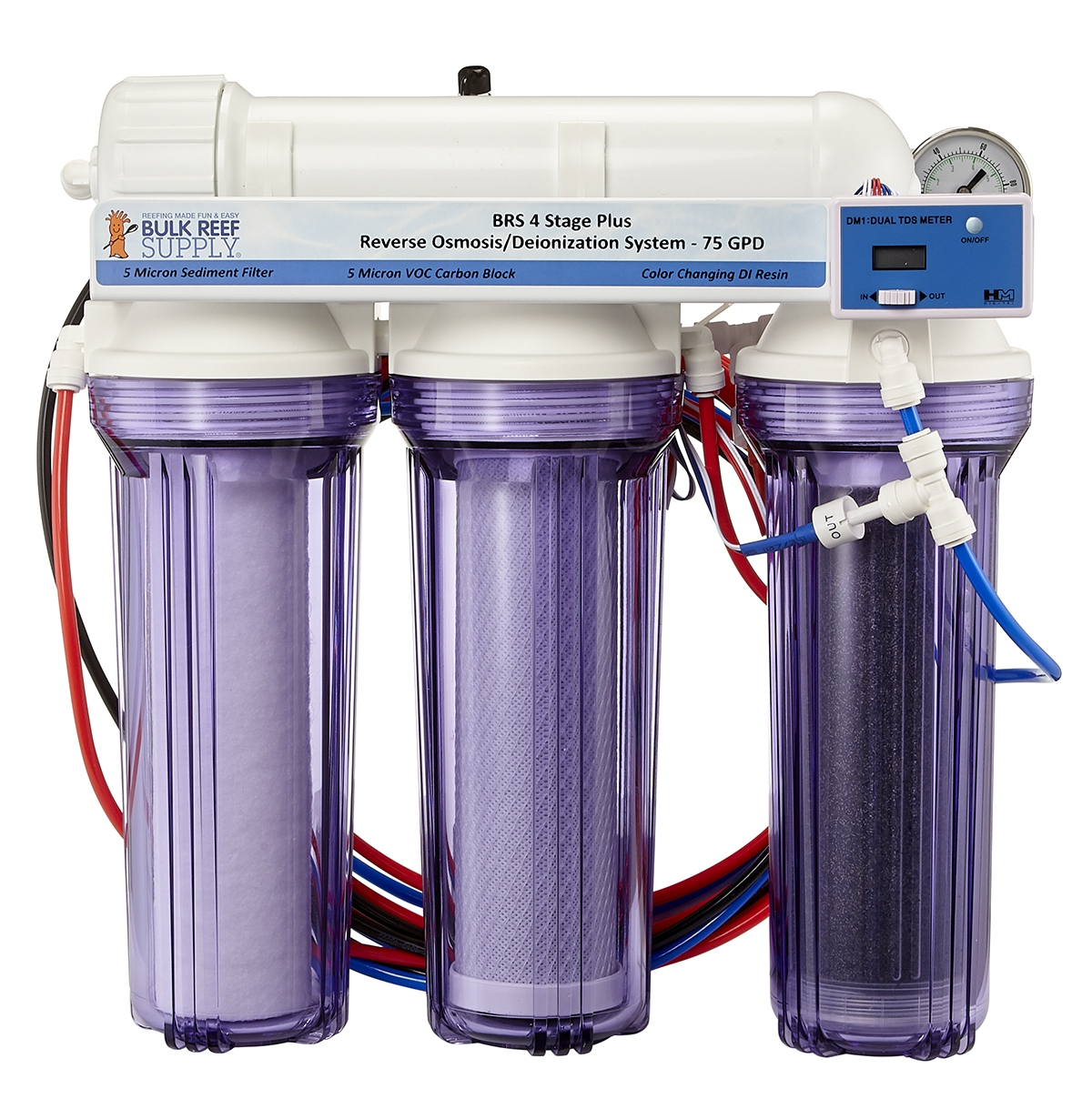 Pet Supplies Fish & Aquariums Aquarium Mix Bed Di Deionization Filter Kit Hm Digital Dm-1 Tds Meter Dual Line Without Return
