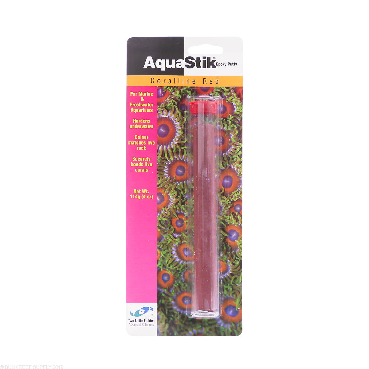 Aquastik Underwater Epoxy Putty Coralline Red Two Little Fishies