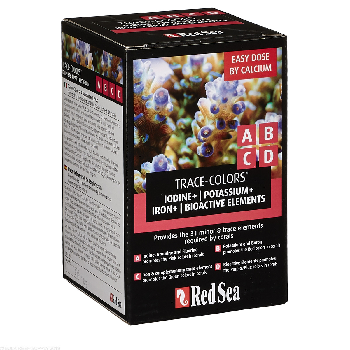 Red Sea Trace Colors Abcd 4 Pack Bulk Reef Supply