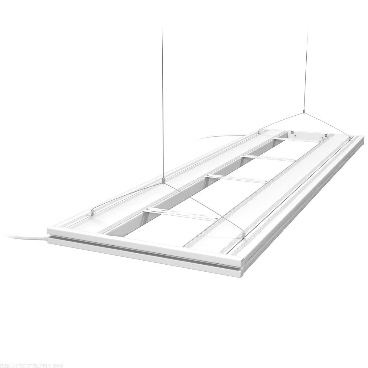 60 hybrid t5ho 4x24w fixture with led mounting system white aquatic life