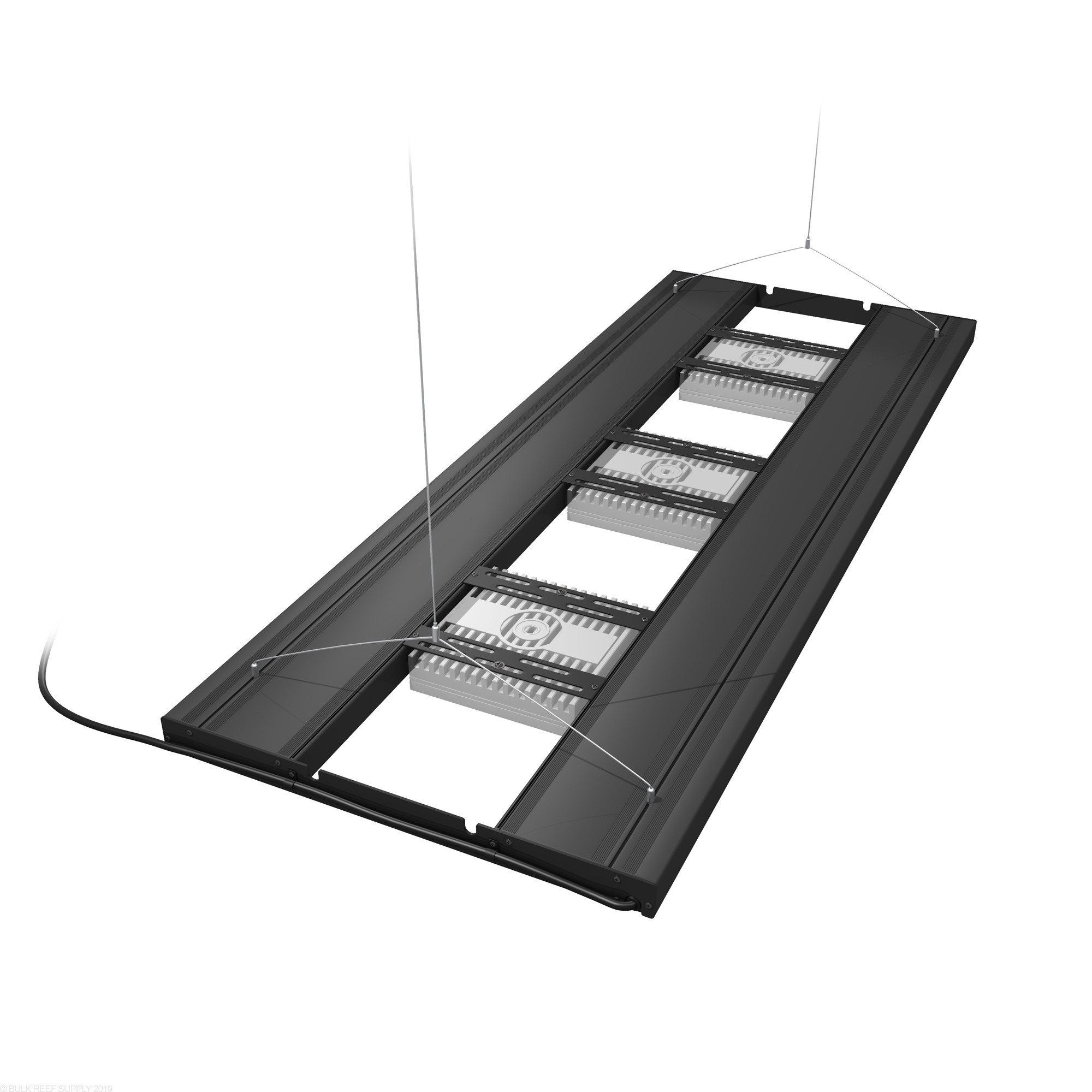 36 hybrid t5ho 4x39w fixture with led mounting system aquatic life ecotech mounts