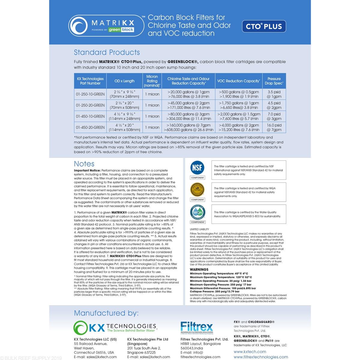 MATRIKX CTO Plus Carbon Block - 1 Micron