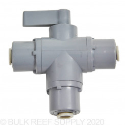 "3-Way Ball Valve with John Guest 1/4"" Push Connect"