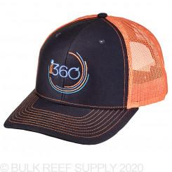 360 Hat - Navy/Orange