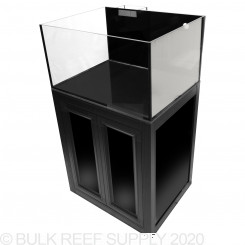 Nuvo EXT 50 Lagoon Aquarium with Black APS Stand