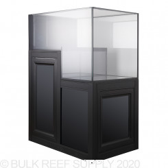 Nuvo INT 70 Drop Off Peninsula Aquarium with Black APS Stand