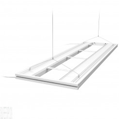 "61"" Hybrid T5HO 4x80W Fixture with LED Mounting System - White"