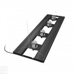 "61"" Hybrid T5HO 4x80W Fixture with LED Mounting System - Black"
