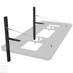 Floating Suspension Hybrid Light Fixture Hanging System - Black