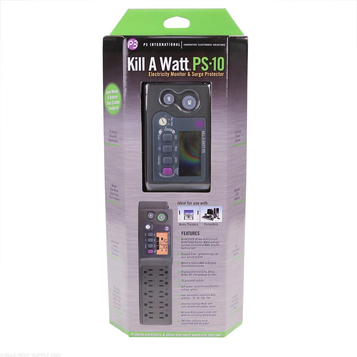 P3 Kill A Watt PS-10 10-Outlets Power Strip