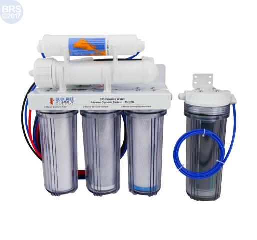 BRS 6 Stage Drinking & Reef RO/DI System - 75GPD (RO/DI)
