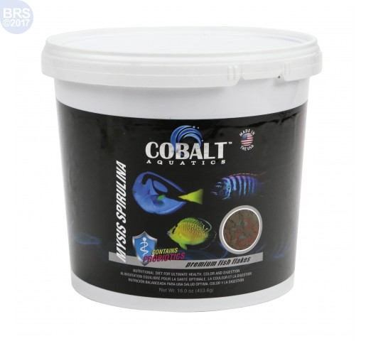 Cobalt Aquatics Mysis Spirulina Flakes Fish Food