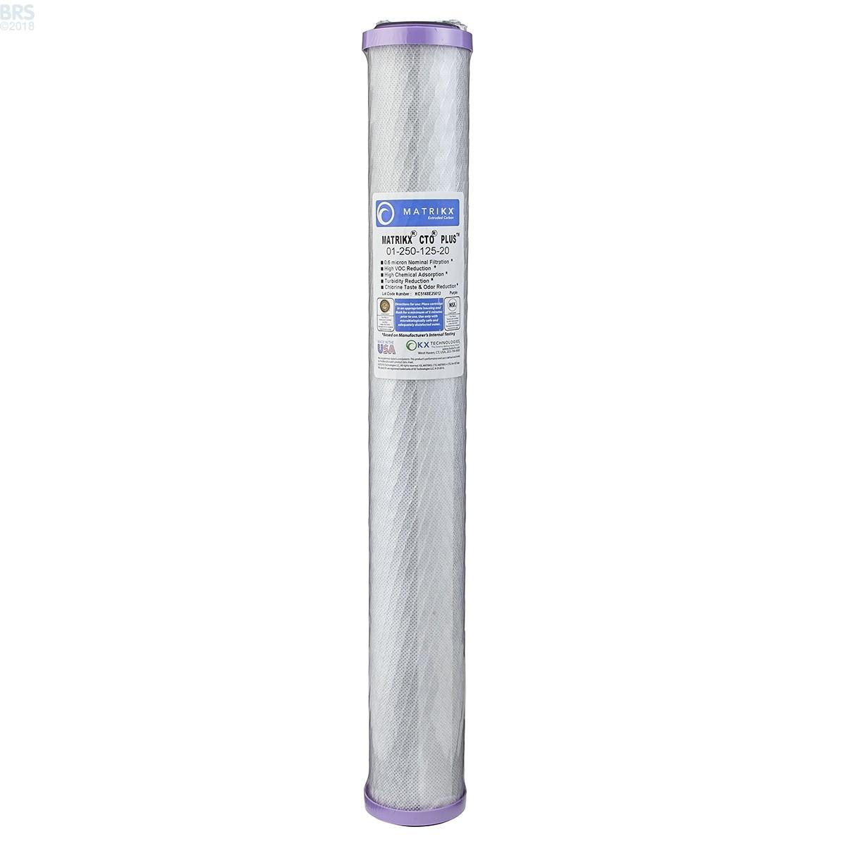 Matrikx Cto Plus Carbon Block 1 Micron Filters Nano Cartridge Filter Air Water 10 03 U Mikron
