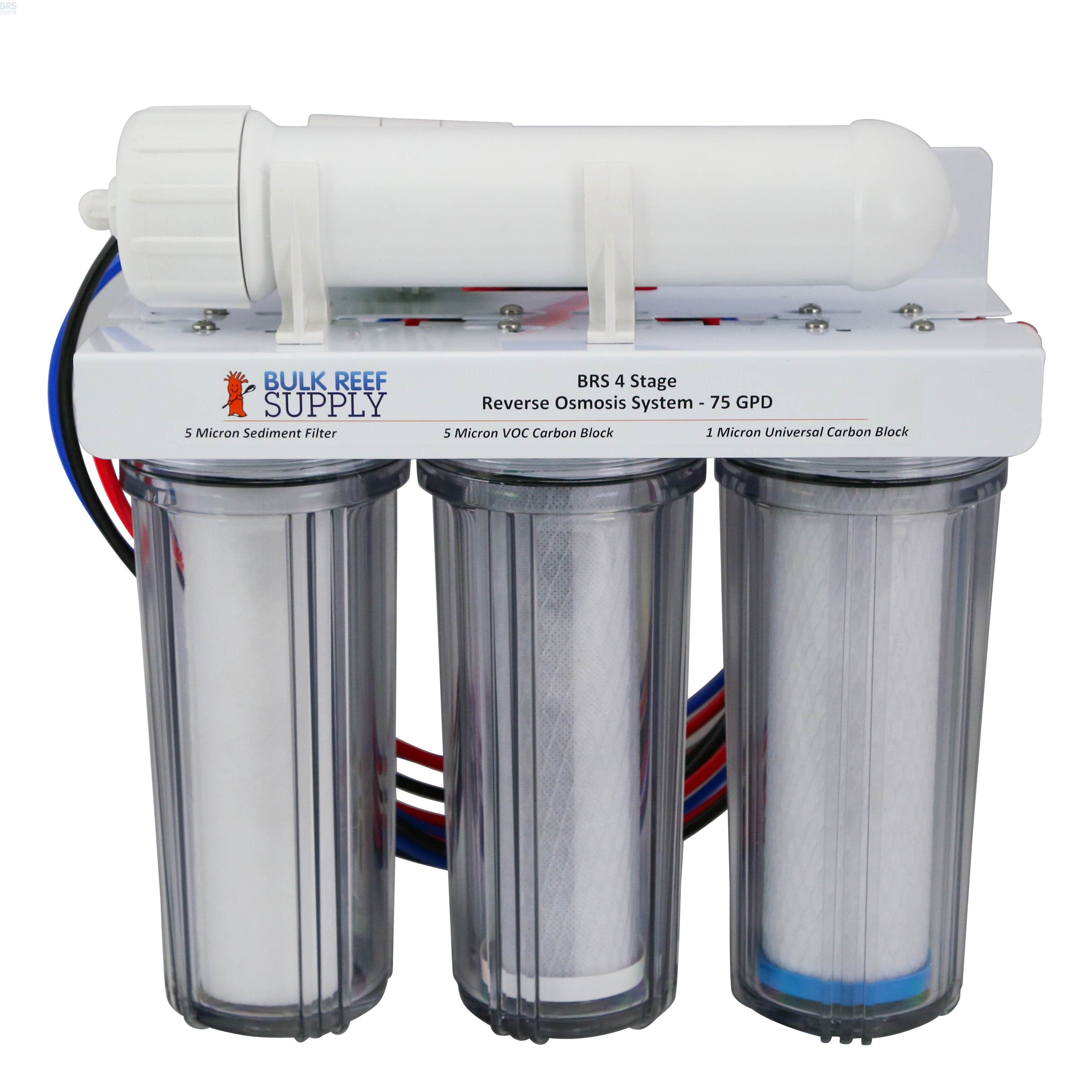 Brs 4 Stage Ro Only System 75gpd Bulk Reef Supply Nano Cartridge Filter Air Water 10