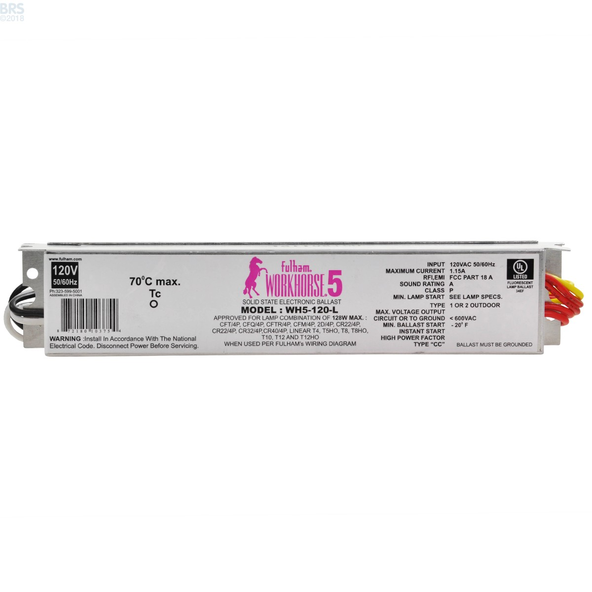 Fulham Workhorse 5 T5 Ho Fluorescent Ballasts Bulk Reef Supply Ballast 39w 2 Wiring Diagram Click On Image To Zoom