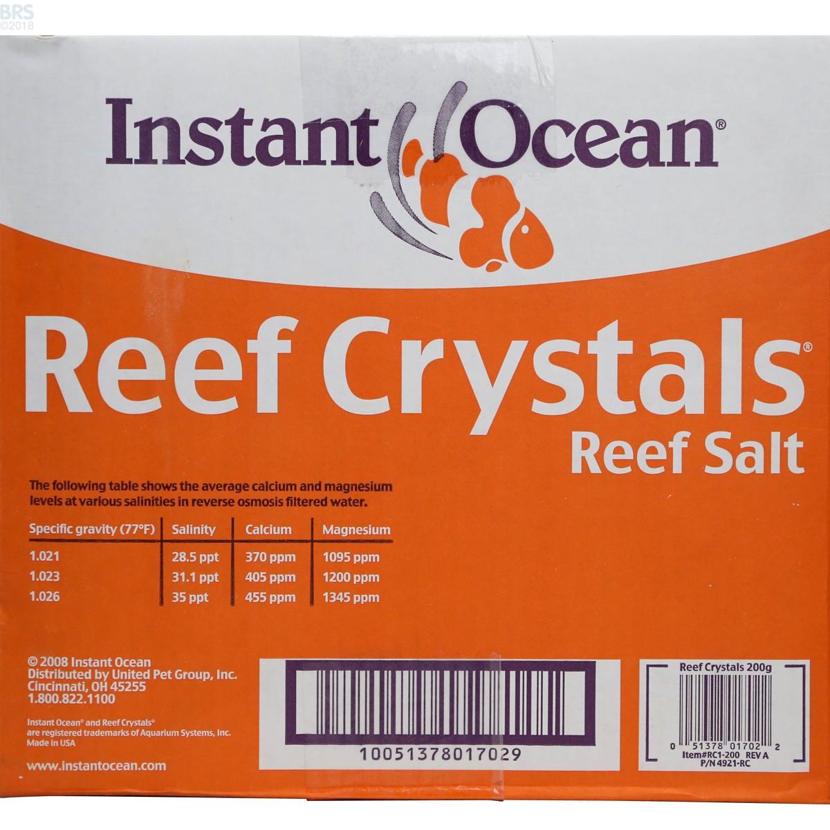 Instant Ocean Salt Box : Reef crystals salt mix instant ocean bulk supply