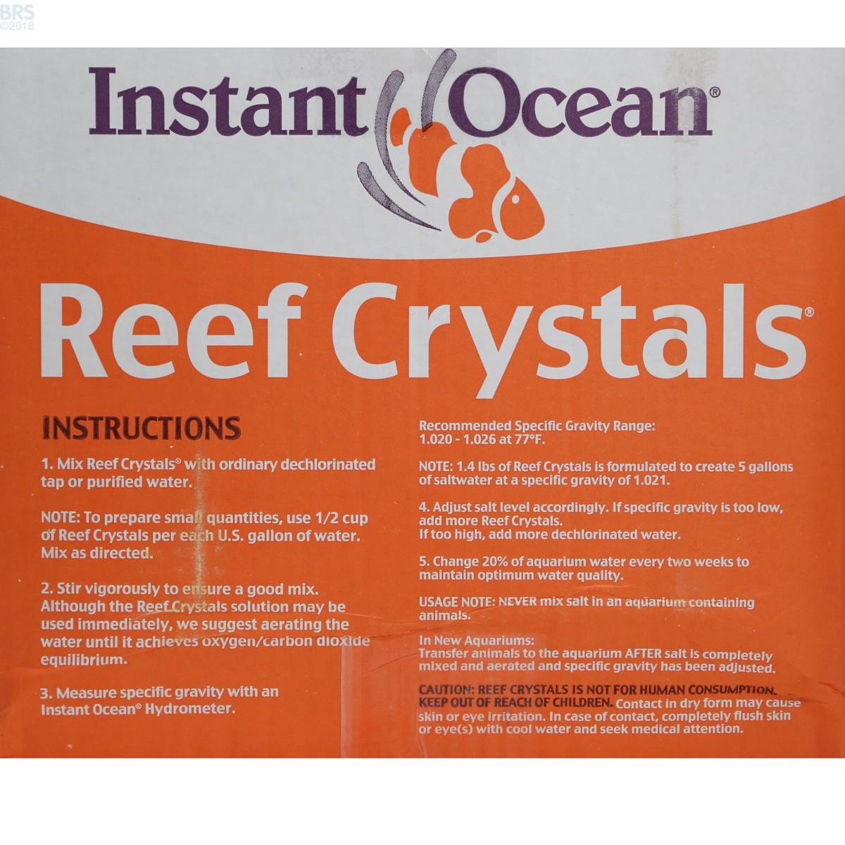 Instant Ocean 200 Gallon Box : Reef crystals salt mix instant ocean bulk supply