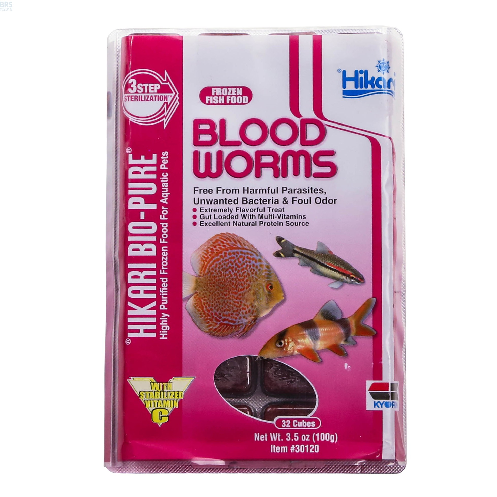 Bio Pure Frozen Blood Worms Hikari Bulk Reef Supply