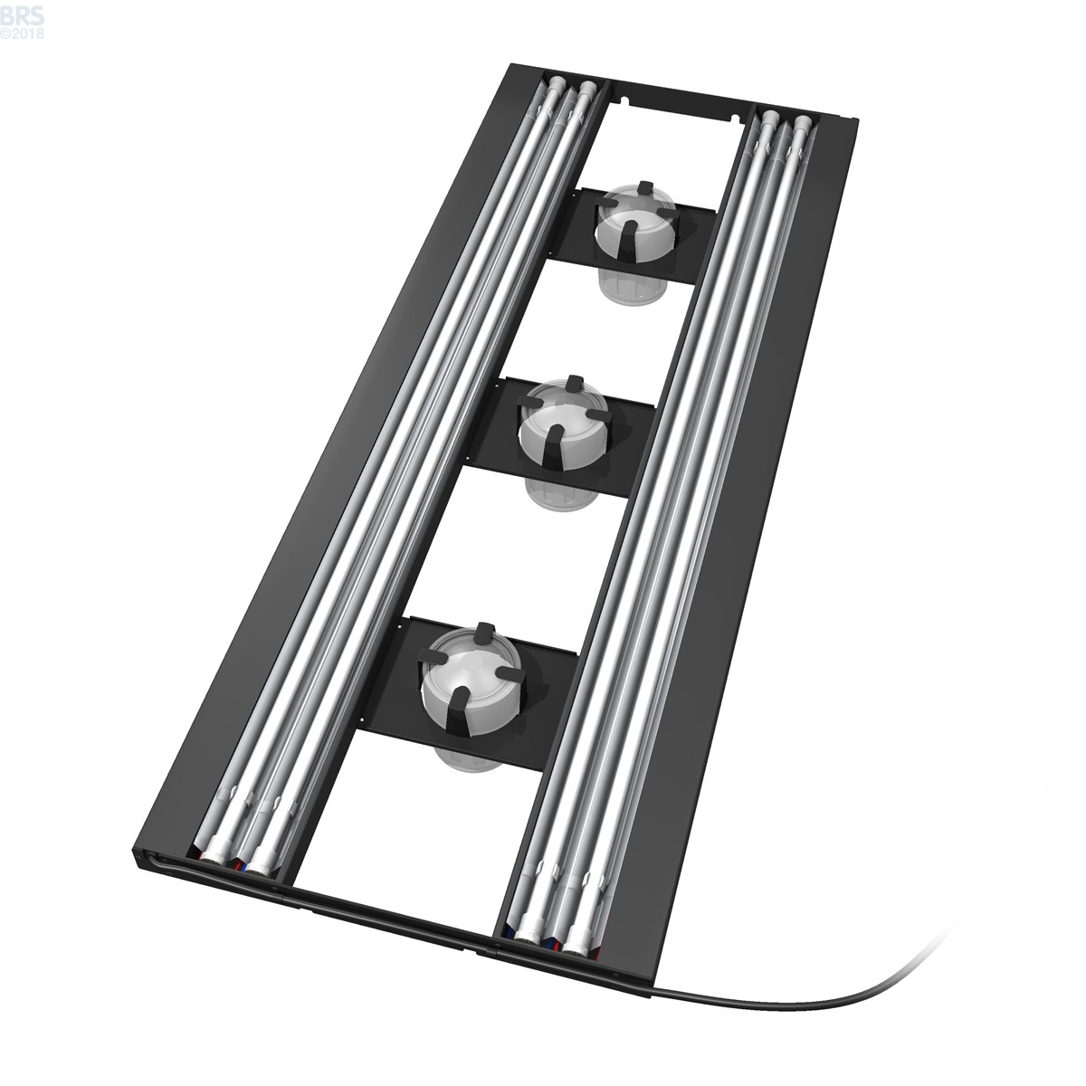 "12 X 48 Led Light Fixture: 48"" Hybrid T5HO 4x54W Fixture With LED Mounting System"