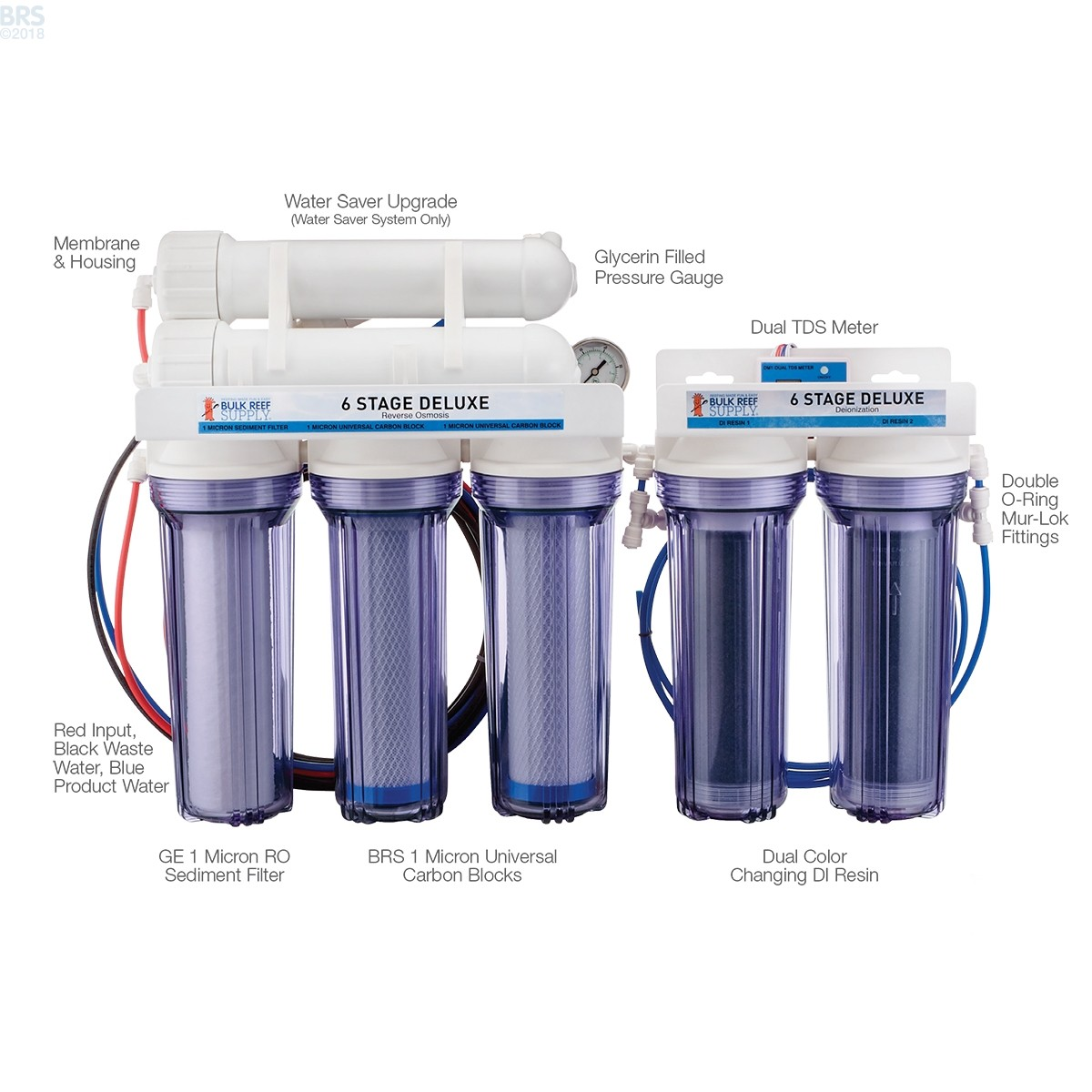 Black Friday Deals 6 Stage Deluxe Plus Ro Di System Bulk Reef Nano Cartridge Filter Air