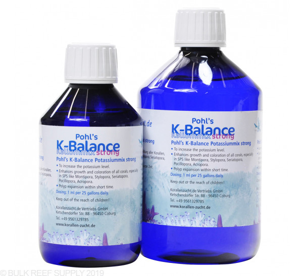 Korallen-Zucht Pohl's K-Balance Potassium Strong - 2 Sizes Available
