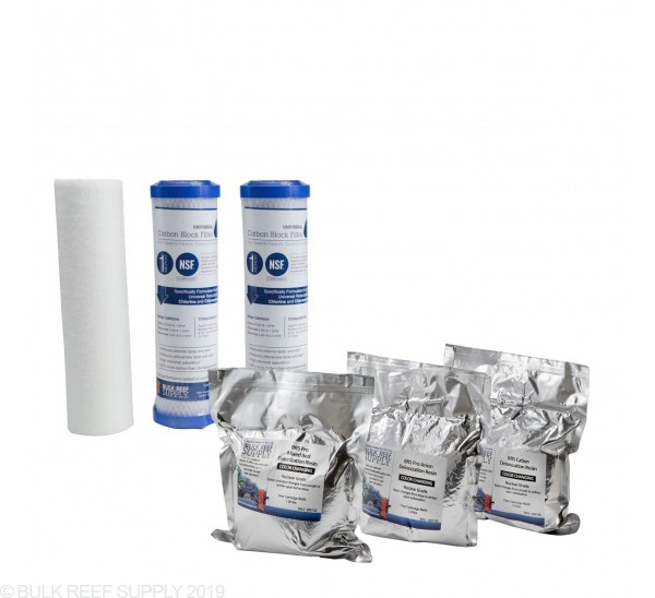 7 Stage Pro RO/DI Replacement Filter Kit - Bulk Reef Supply