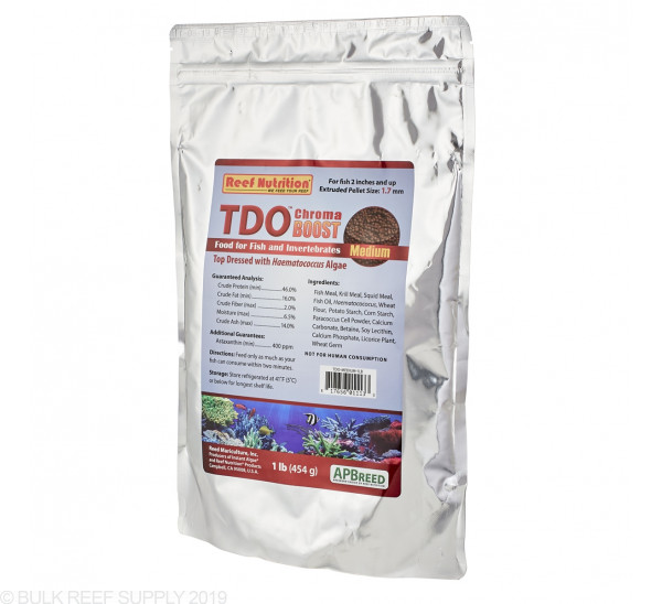 TDO Chroma BOOST Medium Granule Fish Food - Reef Nutrition