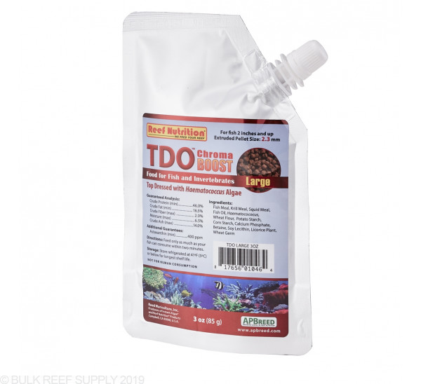 TDO Chroma BOOST Large Granule Fish Food - Reef Nutrition