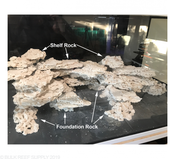 Small Foundation Reef Saver Dry Live Rock - Marco Rocks