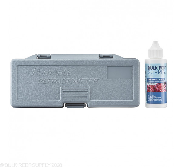 Refractometer for Reading Salinity with Calibration Fluid (OPEN BOX) - Bulk Reef Supply
