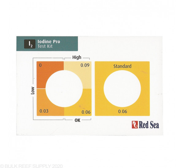 Red Sea Iodine Pro (I2) test kit
