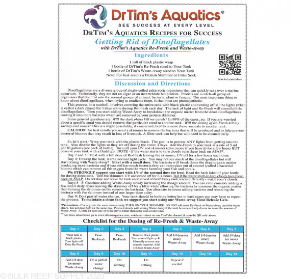 Dinoflagellate Treatment Bundle - Dr.Tim's