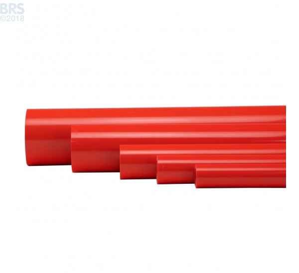 Red Furniture Grade Schedule 40 Pipe (5 ft) - Available in 5 Sizes