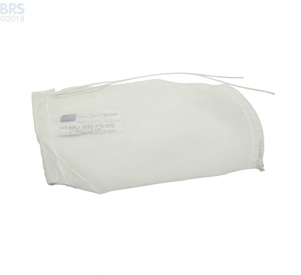 """Case (100) 4"""" x 8"""" BRS Mesh Filter Sock with Draw String"""