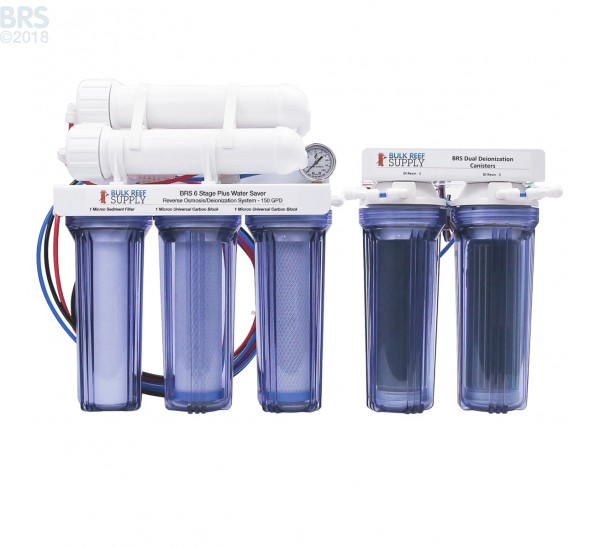 6 Stage 150GPD Plus Water Saver RO/DI System - Bulk Reef Supply