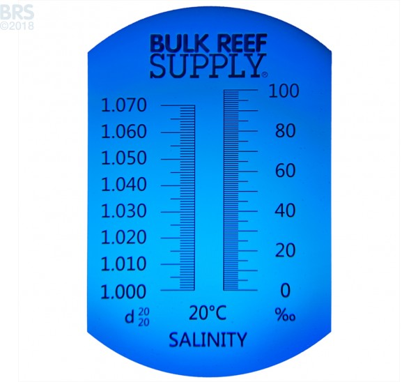 Refractometer for Reading Salinity with Calibration Fluid - Bulk Reef Supply